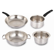 4 Pcs Stainless Steel Cookware Set