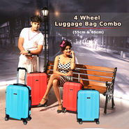 4 Wheel Luggage Bag Combo (55 & 65 cm) - (TL02)