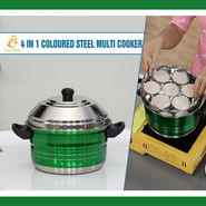 4 in 1 Colored Steel Multi Cooker