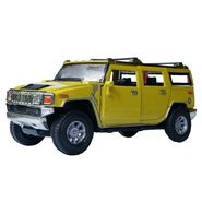 1:28 Yellow Hummer Pullback Die-Cast Collectible Toy Car
