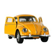 1:32 Scale Pullback Yellow Beetle Toy Car With Music And Light - Yellow