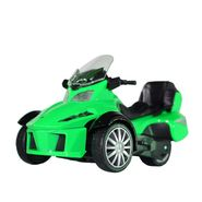 3-Wheel ATV Die Cast Metal Bike Toy For Growing Kids - Green