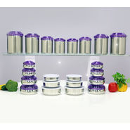 44 Pcs Colored Stainless Steel Storage Set
