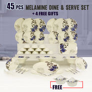 45 Pcs Melamine Dine & Serve Set + 4 Free Gifts