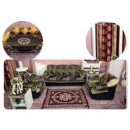 45 Pcs Golden Jacquard Home Furnishing Combo - Pick Any 1