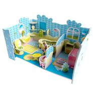 48pcs 3D Puzzle Dream Villa Cute bathroom pz-15