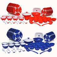 52 Pcs Designer Microwaveable Dinner Set