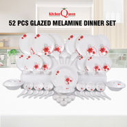 52 Pcs Glazed Melamine Dinner Set