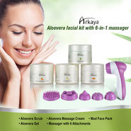 Arkaya Aloe Vera Facial Kit with 6-in-1 Massager