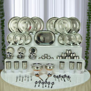 61 Pcs Silver Touch Steel Dinner Set