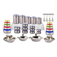 62 Pcs Coloured Stainless Steel Storage Set
