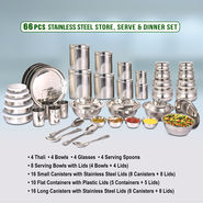 66 Pcs Store, Serve & Dinner Set