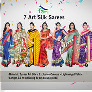 7 Art Silk Sarees (7B3)