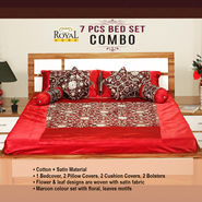 7 Pcs Bed Set Combo