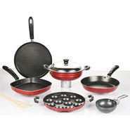 7 Pcs Colourful Non Stick Cookware Set