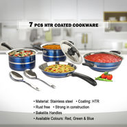 7 Pcs HTR Coated Cookware