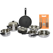 7 Pcs Stainless Steel Cookware + Free Knife Set