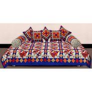 Set of 8 Priya Fashions Cotton King Size Jaipuri Printed Diwan Set-70X100DW19