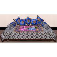 Set of 8 Priya Fashions Cotton King Size Jaipuri Printed Diwan Set-70X100DW2