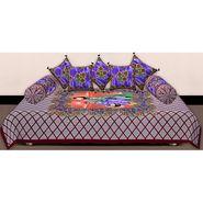 Set of 8 Priya Fashions Cotton King Size Jaipuri Printed Diwan Set-70X100DW6