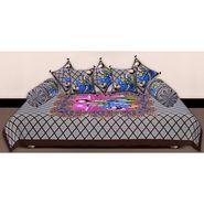 Set of 8 Priya Fashions Cotton King Size Jaipuri Printed Diwan Set-70X100DW9