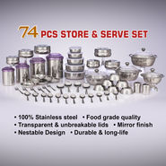 74 Pcs Store & Serve Set