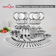 75 Pcs Laser Etching Dinner Set
