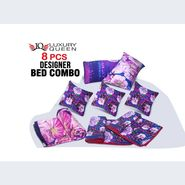 8 Pcs Designer Bed Set Combo