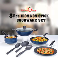 8 Pcs Iron Non Stick Cookware Set