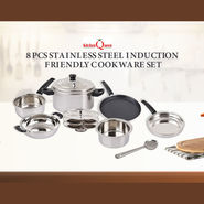 8 Pcs Stainless Steel Induction Friendly Cookware Set