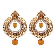 Vendee Fashion Stylish Earrings - Brown