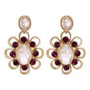 Vendee Fashion Stylish Earrings - Purple