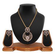 Vendee Fashion Stylish Pendant Set - Black