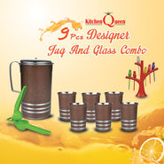 9 Pcs Designer Jug And Glass Combo