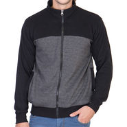 American Elm Full Sleeves Jacket For Men_Ajblack - Black