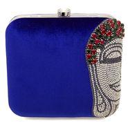 Arisha Velvet Sling Bag AE18a  -Blue