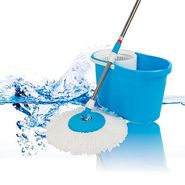 Anmol Blue Cleaning Mop with Steel Rod