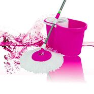 Anmol Pink Cleaning Mop with Steel Rod