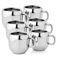 Aoito Double Wall Apple Set of 6 Stainless Steel Mug_APP-6-AO
