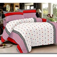 Story @ Home 152 TC 100% Cotton White 1 Double Bedsheet With 2 Pillow Cover-AR1204