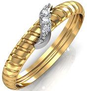 Avsar Real Gold & Swarovski Stone Ragini Ring_A044yb