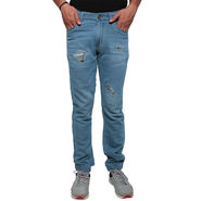 Slim Fit Cotton Joggers_Axlbl - Light Blue