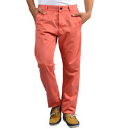 Slim Fit Cotton Chinos_Axph - Peach