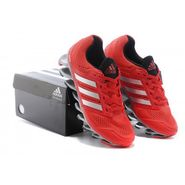 Adidas Breathable Nylon Mesh Sports Shoes_007 _Red & Silver