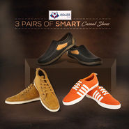 Adler 3 Pairs of Smart Casual Shoes