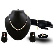 American Diamond Necklace Set with Bracelet & Ring