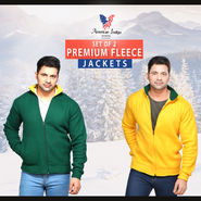American Indigo Set of 2 Premium Fleece Jackets