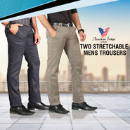 American Indigo Two Stretchable Mens Trousers