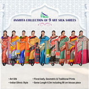 Anshita Collection of 9 Art Silk Sarees by Pakhi (9A2)