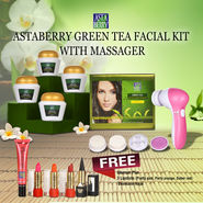 Astaberry Green Tea Facial Kit with Massager